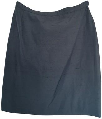 Genny Navy Cotton Skirt for Women