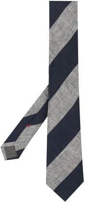 Brunello Cucinelli Diagonal-Striped Tie