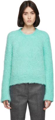 Maison Margiela Blue Handmade Boucle Sweater