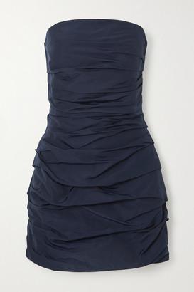 Georgia Alice Betty Strapless Ruched Shell Mini Dress - Navy