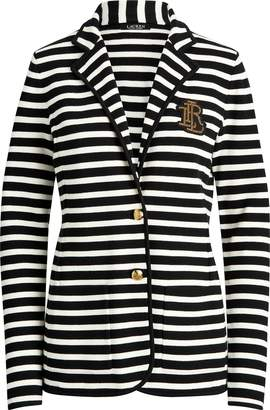 Ralph Lauren Striped Cotton Blazer