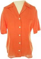 Loewe Orange Linen Top for Women Vintage