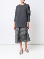 Jason Wu Light Menswear Collage Asymmetrical Cascade Skirt