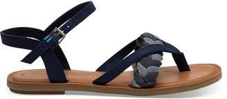 Toms Navy Textile Lexie Women's Sandals