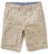 Nautica Big Boys 8-16 Anchor-Print Flat-Front Shorts