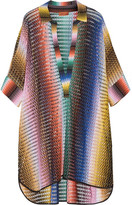Missoni Mare Crochet-knit Tunic - Storm blue