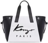 Kenzo White & Black Large Logo Essentials Tote