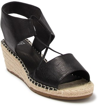 Eileen Fisher Agnes Espadrille Leather Wedge Sandal