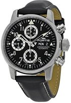 Fortis Flieger Classic Automatic Chronograph Steel Mens Watch Black Dial Day/Date 597.20.71 L.01