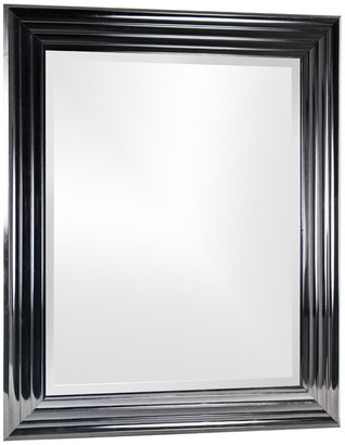 American Art Decor Everett Antiqued Wall Vanity Mirror, Black