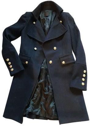 Pinko Navy Wool Coat for Women
