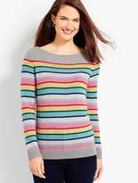 Talbots Stripe Tweed Boatneck Pullover
