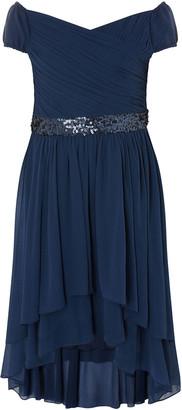 Monsoon Abigail Bardot Prom Dress Blue