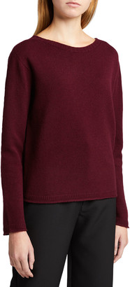 Majestic Filatures Boat-Neck Wool-Cashmere Sweater