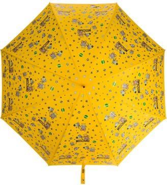 Moschino logo-print Teddy-motif umbrella
