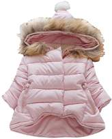 Kidscool Baby Girls Soft Hooded Down Coat Soft Keep Warm Outwear