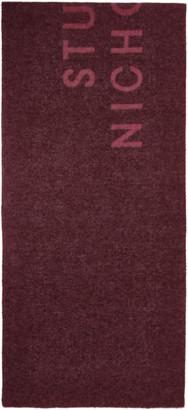 Studio Nicholson Pink Wool The Logo Scarf