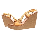 Miu Miu Wedge Sandals, Size 38.5