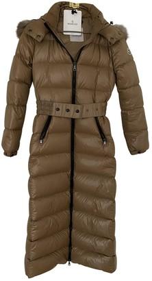 Moncler Long Beige Polyester Coats