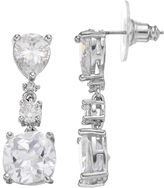 JLO by Jennifer Lopez Red Carpet Ready Cubic Zirconia Geometric Drop Earrings