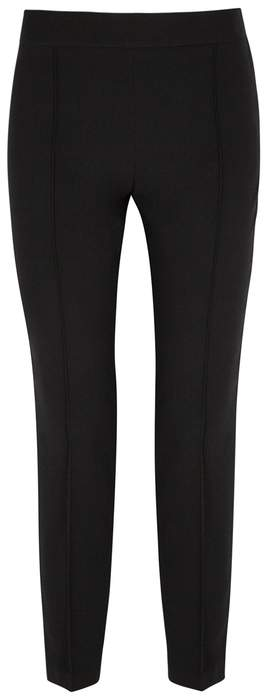 Moschino Black Cropped Cady Trousers
