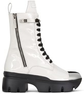 Thumbnail for your product : Giuseppe Zanotti Patent Track Sole Boots