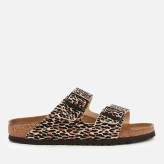 Birkenstock Women's Arizona Leopard Print Double Strap Sandals - Tan
