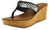 Aldo Afeliwiel Women Open Toe Synthetic Black Wedge Sandal.