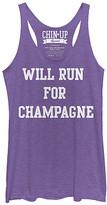 Chin Up Apparel Women's Tank Tops Purple - Heather Purple 'Champagne' Raw Edge Racerback Tank - Women