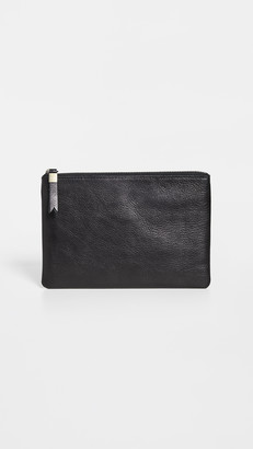 Madewell The Leather Pouch Clutch