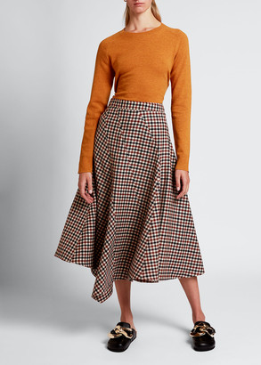J.W.Anderson Checked Spiral Skirt