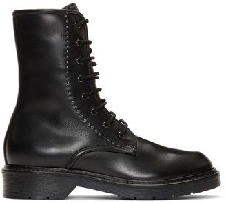Max Mara Black Becky Lace-Up Boots