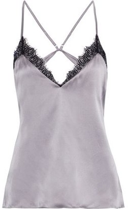 CAMI NYC The Cecilie Open-back Lace-trimmed Silk-charmeuse Camisole