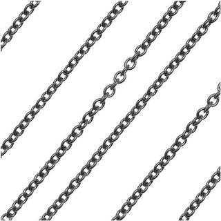 Overstock Gun Metal Delicate Cable Chain 1.2mm Bulk by The Foot