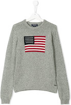 Woolrich Kids American flag knitted jumper