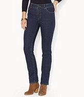 Lauren Ralph Lauren Petites Super-Stretch Premier Straight-Leg Rinse-Wash Jeans