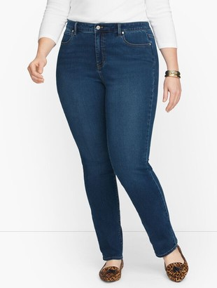 Talbots Plus Size Exclusive Straight Leg Jeans - Catalina Wash - Curvy Fit
