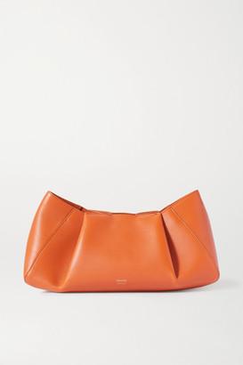 KHAITE Jeanne Small Leather Clutch - Tan