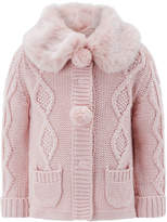 Monsoon Baby Ridley Fur Cardigan