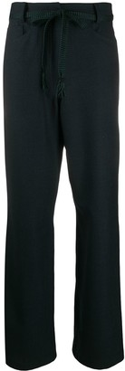 Odeeh High-Waisted Front Tie Trousers
