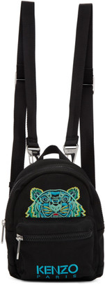 Kenzo Black Canvas Mini Tiger Backpack