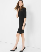 White House Black Market Tiered Shadow Stripe Dress