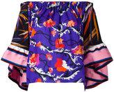 Emilio Pucci off shoulder floral blouse - women - Silk - 42