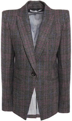 Veronica Beard Brock Dickey Checked Wool-blend Blazer