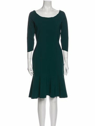 Chiara Boni Scoop Neck Mini Dress Green