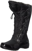 Sporto Womens Tina Metallic Waterproof Snow Boots Black 9 Medium (B,M)