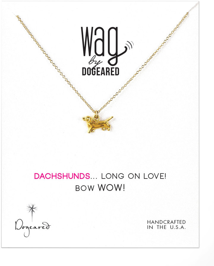 Dogeared 14k Vermeil Dachshund Dog Necklace