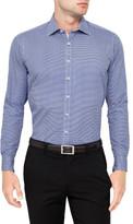 Geoffrey Beene Cube Wall Geometric Print Slim Fit Shirt