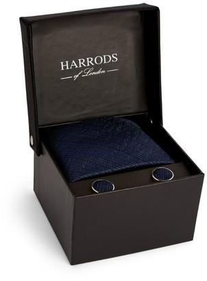 Harrods Lightning Bolt Tie and Cufflinks Gift Set