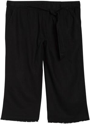 Caslon Solid Linen Blend Crop Pants